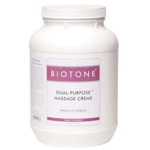 Dual Purpose Massage Crème 128 oz. by Biotone (BIDPG)