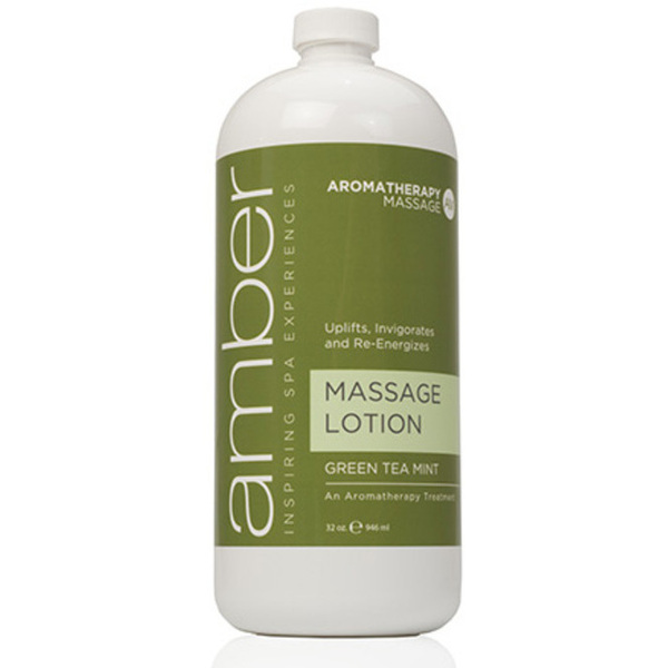 Green Tea Massage Loition 32 oz. by Amber Products (AMB529-GT)