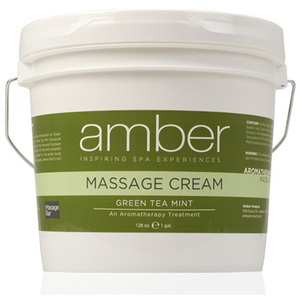Green Tea Massage Cream 1 Gallon by Amber Products (AMB533-GT)