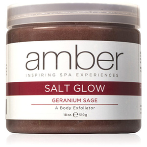 Geranium Sage Exfoliating Salt Glow 14 oz. by Amber Products (AMB720-GSS)