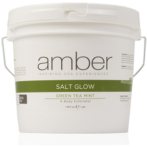 Green Tea Mint Salt Glow 1 Gallon by Amber Products (AMB720-GT)