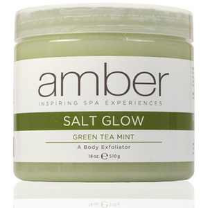 Green Tea Mint Salt Glow 16 oz. by Amber Products (AMB720-GTS)