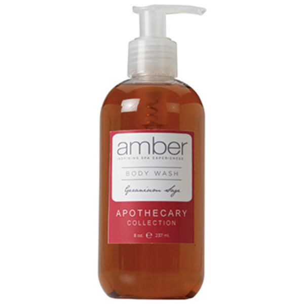 Geranium Sage Body Wash 11 oz. by Amber Products (AMBR651-GS)