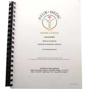 Professional Treatment Manual by Ayur-Medic Skincare (AM112P)