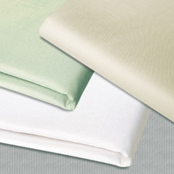 "Cream Microfiber Flat Sheet 56"" x 83"" by Simon West (MICCFL)"