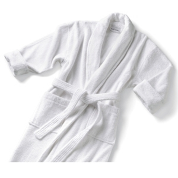 Terry Shawl Collar Robe White by Boca Terry (SSSW062)