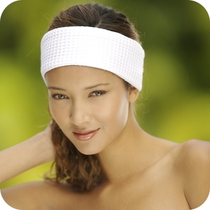 Velour Headband White by Boca Terry (SSSW075)