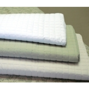"Quilted Blanket White 58"" x 85"" by Simon West (MICQWH)"