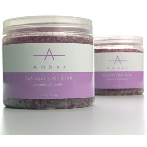 Lavender Aphrodisia Sea Salt Foot Soak 18 oz. by Amber Products (AP112)