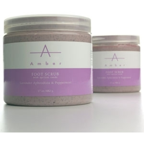 Lavender Aphrodisia & Peppermint Foot Scrub 17 oz. by Amber Products (AP118)