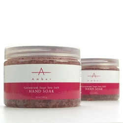 Geranium Sage Sea Salt Hand Soak 12 oz. by Amber Products (AP101)