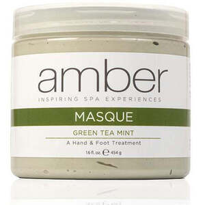 Green Tea MintPeppermint Calming Foot Masque 16 oz. by Amber Products (AP128)