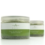 Green Tea Mint Sea Salt Hand Soak 12 oz. by Amber Products (AP102)
