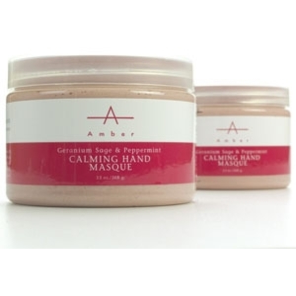 Geranium Sage & Peppermint Calming Hand Masque 13 oz. by Amber Products (AP107)
