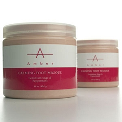 Geranium SagePeppermint Calming Foot Masque 16 oz. by Amber Products (AP126)