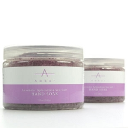 Lavender Aphrodisia Sea Salt Hand Soak 12 oz. by Amber Products (AP100)