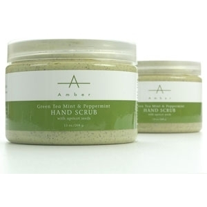 Green Tea MintPeppermint Hand Scrub 13 oz. by Amber Products (AP105)
