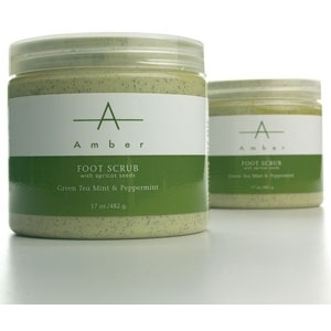 Green Tea MintPeppermint Foot Scrub 64 oz. by Amber Products (AP123)
