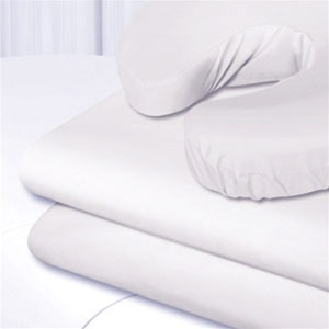 "Flannel Flat Sheet White 33"" x 73"" (SSSBL003)"
