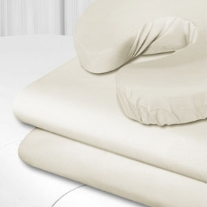 "Flannel Fitted Sheet Ivory 33"" x 73"" (SSSBL007)"