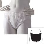 Ladies Disposable Briefs Large-XL White 25 Pack Case of 10 Packs (SSSD005)