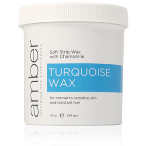 Turquoise Wax Jar 16 oz. by Amber Products (AMB105)