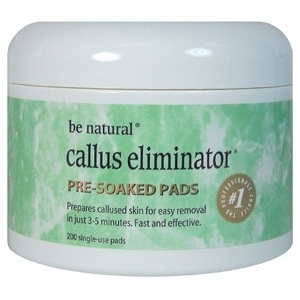 Callus Eliminator Pre-Soak Pads 200 Pack by Be Natural (21800)