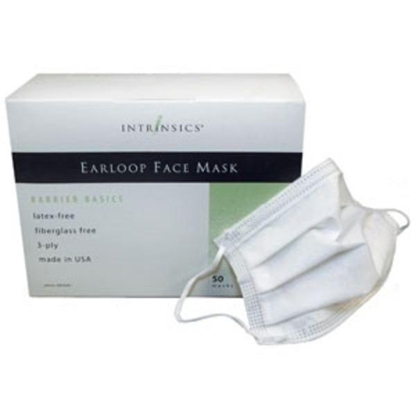 Earloop Face Masks 50 Count per Box Case of 10 Boxes by Intrinsics (INT400640)