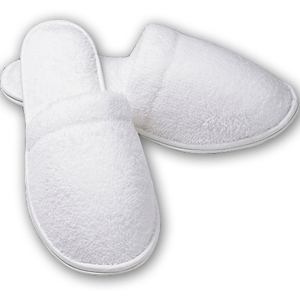 Ladies Closed Toe Slippers Waffle White by Boca Terry (SSSW083)