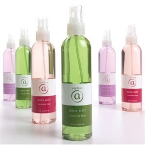 Green Tea Mint Body Mist 8 oz. Case of 6 by Amber Products (AMBR655-GT)