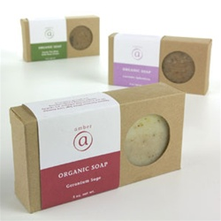 Geranium Sage Organic Soap 5 oz. Case of 6 by Amber Products (AMBR650-GS)