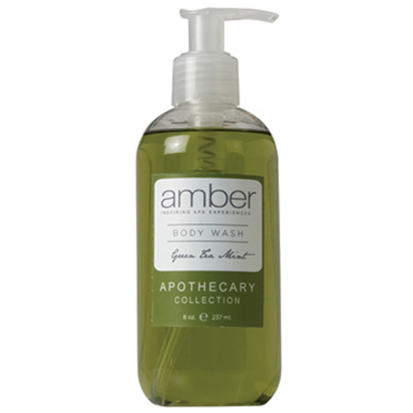 Green Tea Mint Body Wash 11 oz. Case of 6 by Amber Products (AMBR651-GT)
