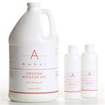 Swedish Massage Oil 8 oz. by Amber Products (AMBO126)
