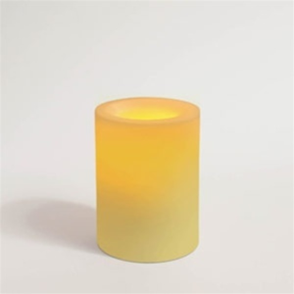"Flameless Wax Candle 4"" x 3.25"" Round Unscented Champagne Color (CI25090-CH)"