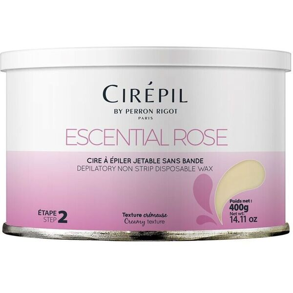 Escential Rose Wax 400 Gram Tin Rose Scented Stripless Wax (C-0103)