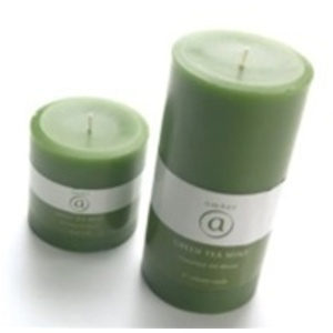 "Green Tea Mint 6"" Candle 6 Pack (AMB680TC)"