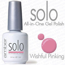 Solo All-in-One Gel Polish - No Base or Top Coat Needed - LED or UV Cured - 0.5 oz. Wishful Pinking (S502)