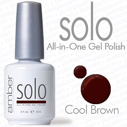 Solo All-in-One Gel Polish - No Base or Top Coat Needed - LED or UV Cured - 0.5 oz. Cool Brown (S510)