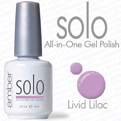 Solo All-in-One Gel Polish - No Base or Top Coat Needed - LED or UV Cured - 0.5 oz. Livid Lilac (S534)