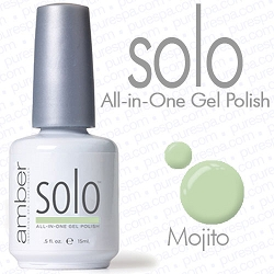 Solo All-in-One Gel Polish - No Base or Top Coat Needed - LED or UV Cured - 0.5 oz. Mojito (S546)