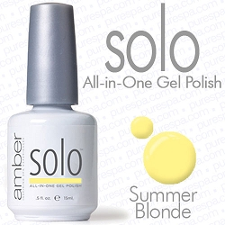 Solo All-in-One Gel Polish - No Base or Top Coat Needed - LED or UV Cured - 0.5 oz. Summer Blonde (S550)