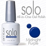 Solo All-in-One Gel Polish - No Base or Top Coat Needed - LED or UV Cured - 0.5 oz. Midnight Purple (S605)