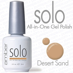 Solo All-in-One Gel Polish - No Base or Top Coat Needed - LED or UV Cured - 0.5 oz. Desert Sand (S610)