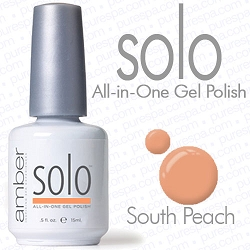 Solo All-in-One Gel Polish - No Base or Top Coat Needed - LED or UV Cured - 0.5 oz. South Peach (S612)