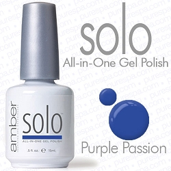 Solo All-in-One Gel Polish - No Base or Top Coat Needed - LED or UV Cured - 0.5 oz. Purple Passion (S616)