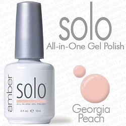 Solo All-in-One Gel Polish - No Base or Top Coat Needed - LED or UV Cured - 0.5 oz. Georgia Peach (S624)