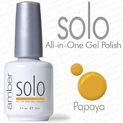 Solo All-in-One Gel Polish - No Base or Top Coat Needed - LED or UV Cured - 0.5 oz. Papaya (S631)