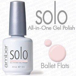 Solo All-in-One Gel Polish - No Base or Top Coat Needed - LED or UV Cured - 0.5 oz. Ballet Flats (S636)