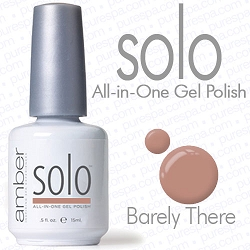 Solo All-in-One Gel Polish - No Base or Top Coat Needed - LED or UV Cured - 0.5 oz. Barely There (S638)