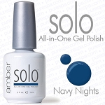 Solo All-in-One Gel Polish - No Base or Top Coat Needed - LED or UV Cured - 0.5 oz. Navy Nights (S640)